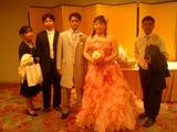 最後は記念写真!(左は7月に続けて結婚する仲間)