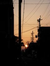 久し振りに見た夕日