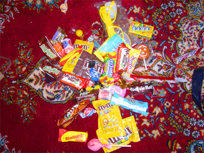 ハロウィンのキャンディ