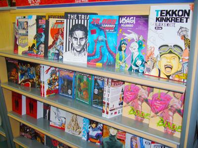 アメリカの書店のマンガ