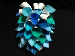 おりがみ遊び:七夕飾り くす玉 ... : 短冊 折り紙 折り方 : 折り方