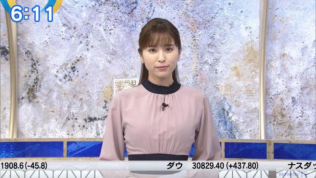 角谷暁子アナ おっぱい強調衣装!