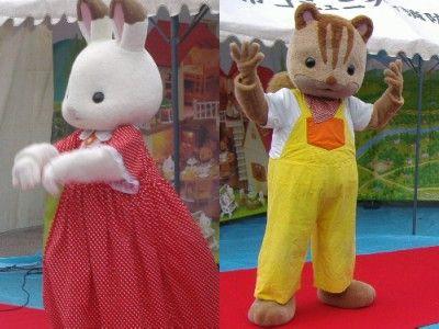 2010_1031シルバニアショコラウサギとシマリス