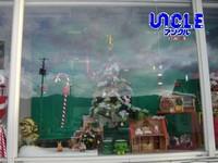 クリスマスウィンドウ(駐車場側)ツリー