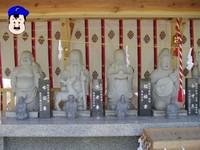(左から)布袋尊・壽老尊・福禄寿・弁才天