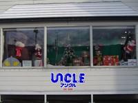クリスマスウィンドウ(駐車場側)