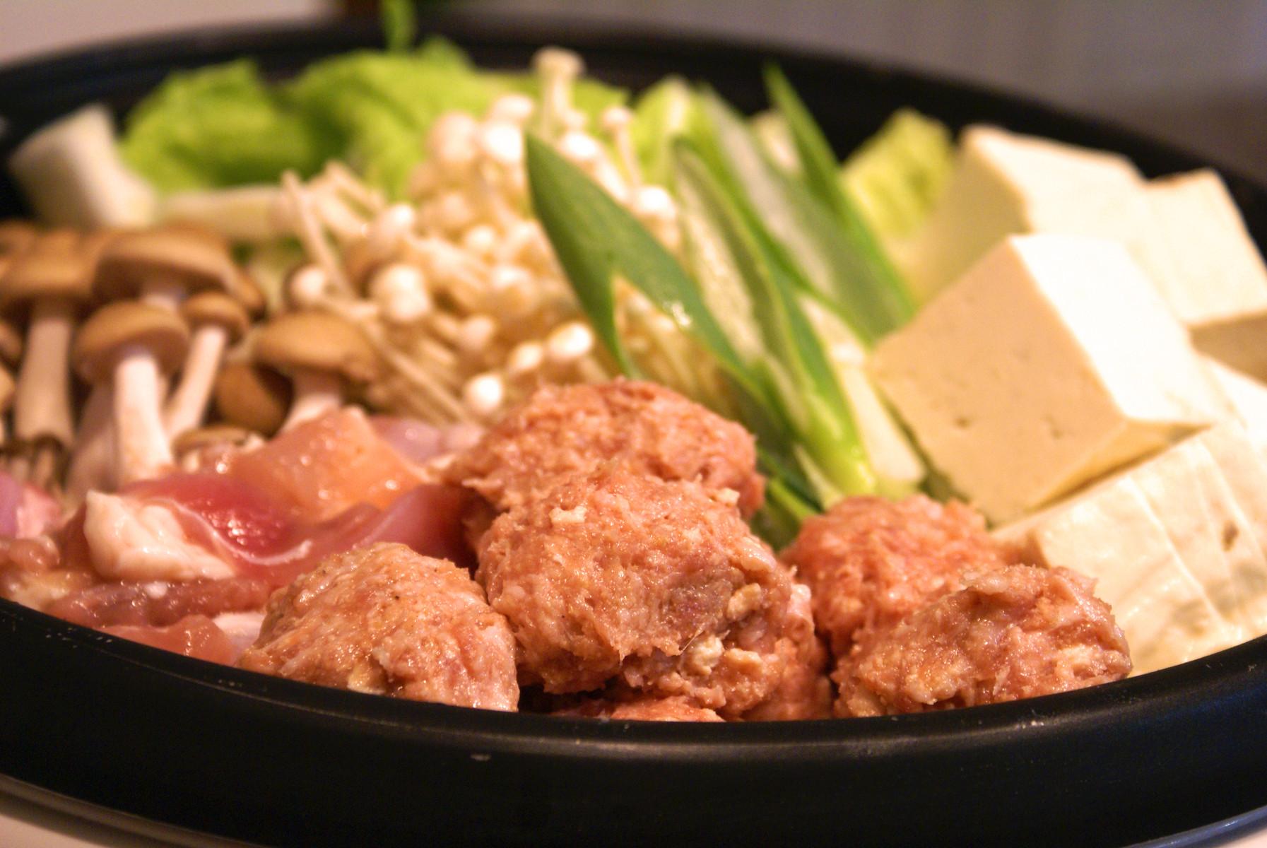 鶏つくね鶏鍋鶏1