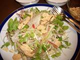 鯛の中華風サラダの完成