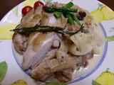 鶏肉とポロねぎクリーム煮の完成