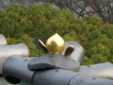 岡山城の桃瓦