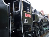 下石井公園(岡山市幸町)の顔、SL機関車「D-51」