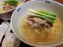 豚茶漬け(汁かけご飯)の完成