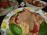 トマトの肉詰めの完成