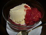 アイスクリームとまとソースの完成