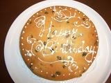 バースデー・ケーキのデコレーション練習