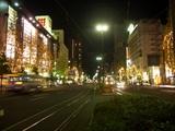 桃太郎大通り(岡山市) 立木イルミネーション 2008.12.1