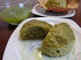 抹茶とうふ蒸しパンの完成