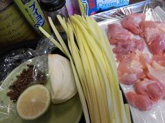 鶏のクリーム煮トリュフ黄にらソースがけの材料