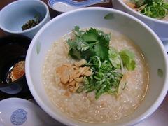 海老のパクチーおかゆ(カオトムクン)