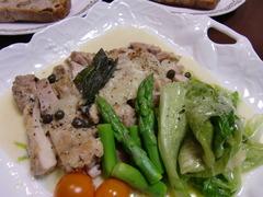 鶏もも肉の蒸し煮の完成