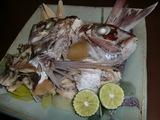 蒸し鯛(タイの兜蒸し)の完成
