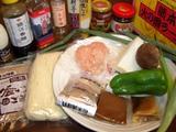 肉味噌ラーメンの材料