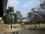 筋鉄御門(すじがねごもん)と桜と福山城 2008.4.3