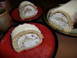 黒豆きな粉ロール(ロールケーキ)の完成
