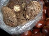 里芋の親イモ&子イモと野山の栗
