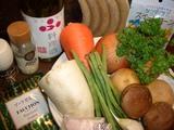 ソーセージ野菜スープの材料
