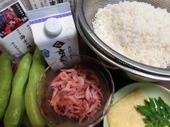 生桜海老ご飯の材料