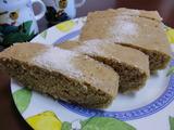 バナナ米粉ケーキの完成