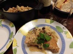 チキンとキャベツのブレゼの完成