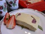 桜チーズケーキの完成
