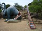 太陽の丘の恐竜すべり台