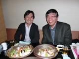 ばらずし(福寿司)と加瀬先生と中野先生。 2009.2.1