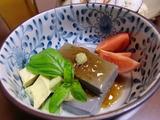 米粉の胡麻豆腐の完成