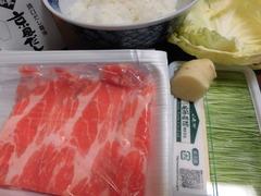 汁かけ飯(ぶた茶漬け)の材料