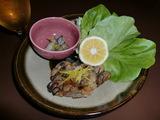 牡蠣(かき)ゆず味噌づけ(焼き)の完成