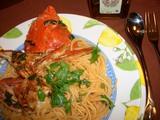 海鮮スパゲッティの完成