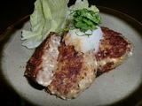 豆腐ハンバーグ・ステーキの完成