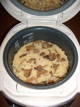 玄米 松茸ご飯の炊き上がり