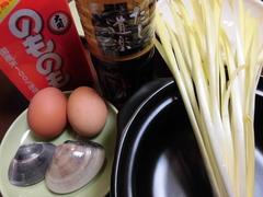 おかやま黄ニラ卵とじの材料