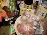 鶏ナベの材料