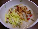 黄ニラ中華粥の完成