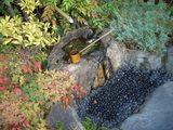 竹喬美術館 中庭の水琴窟