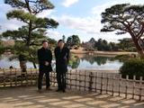 加瀬清志先生と菅野。 @ 岡山後楽園 2009.2.1