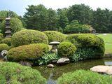 延養亭の庭園風情