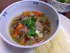 鴨のパクチー団子スープの完成