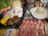豚肉シャブシャブの材料